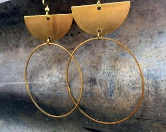 Brass Half circle Hoops