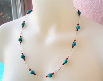 Southwestern Skulls necklace