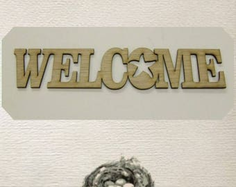 Welcome / Starfish / Nautical/  Wood Cut Out - Laser Cut