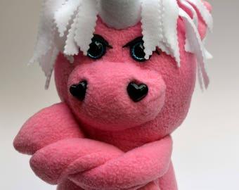 Sparkle, 20in Plush Unicorn doll