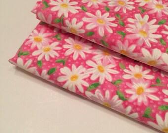 Pink Daisy Fabric