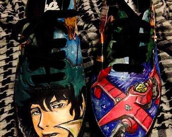 Cowboy Bebop Anime Custom Painted Shoes
