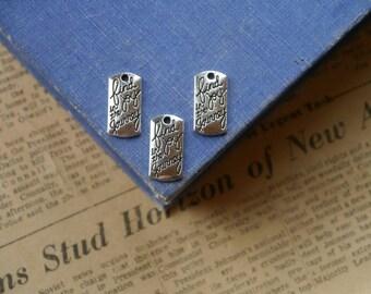 """10 pcs Antique Silver """"Find Joy in the Journey"""" Charm Drop Pendants 20mm (SC2961)"""