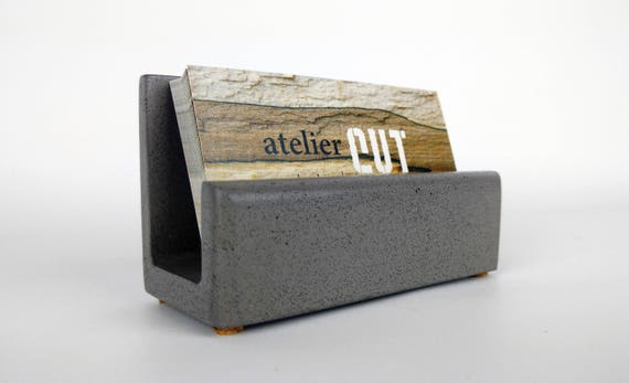 Concrete Business Card Holder / Business Card Stand / Business