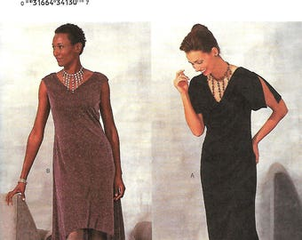 Butterick 3303 Arianna Dress Pattern, Misses A-Line Dress With Front, Hem And Sleeve Variations, 6-8-10, UNCUT