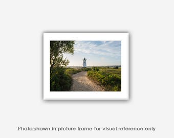 Edgartown Lighthouse Sail Boats Seagrass Martha's Vineyard Photography, Photographs, Art Prints, Blank Photo Greeting Cards, Card Sets