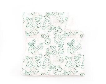 Lovey Prickly Pear Cactus. Lovey. Cactus Lovey. Green Lovey. Mini Baby Blanket. Security Blanket. Lovie. Minky Lovey.