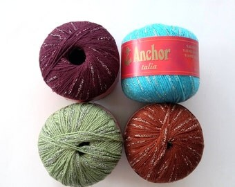 Anchor Talia 50 gr acrylic,polyamide and metallic yarn, knitting yarn, crochet yarn, acrylic yarn, Turkish yarn