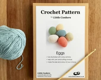 Crochet Egg Pattern / Gift for Crocheter / Crochet Pattern Gift / Printed Paper Pattern / Craft Gift / Spring Easter Crochet Gift for her