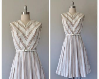 vintage 1960s striped dress size small - medium