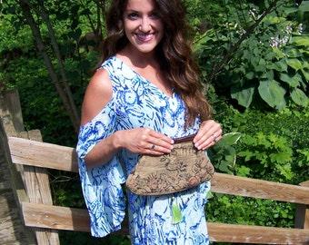 Vintage Tapestry Carpetbag Purse.Bakelite Purse Handle.Vintage Floral Purse.Vintage Carpetbag.Tapestry Handbag.Tapestry Bag.Free Shipping US