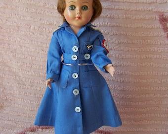 Vintage Red Cross Nurse Doll.World War 2 Memorabilia.Nurse Graduation Gift.Vintage Red Cross Doll.Antique Red Cross Doll.Nurse Collectible.