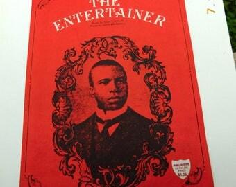 Vintage The Entertainer Maple Sheet Music by Scott Joplin - 1974 - from DustyMillerAntitques