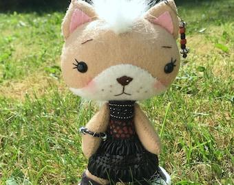 Handmade Punk Kitty Doll