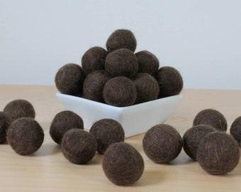 Felt Balls: MOCHA, Felted Balls, DIY Garland Kit, Wool Felt Balls, Felt Pom Pom, Handmade Felt Balls, Brown Felt Balls, Brown Pom Poms