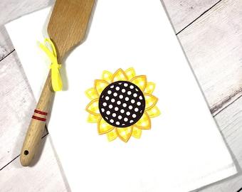 flour sack sunflower towel modern farmhouse home decor sunflower kitchen decor best