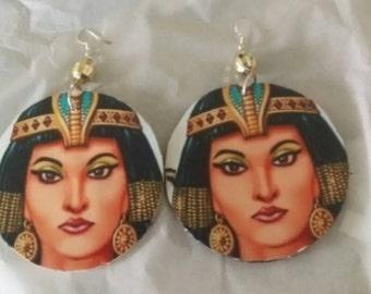 Large egyptian goddess earrings
