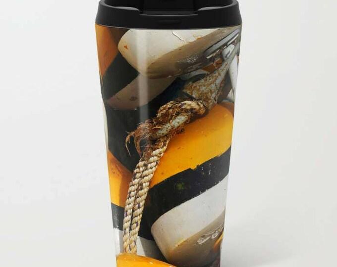 Buoys Metal Travel Mug, Metal Coffee Mug, Metal Mug, Nautical, Photography