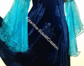Dress medieval Princess, fairy tale, gorgeous velvet.