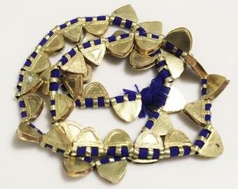Ethiopian Shiny Brass Telsum Bead Pendants, Prayer Box Talisman Pendants, African Jewelry Supplies (AM58)