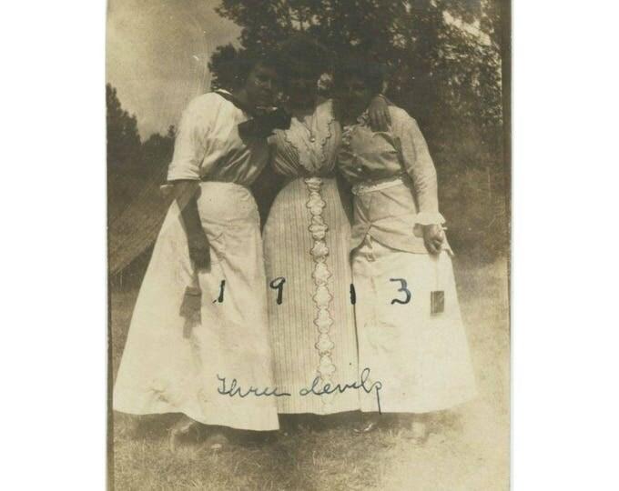 "Vintage Snapshot Photo: ""Three Devils, 1913"" (78597)"