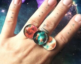Triple galaxy rings