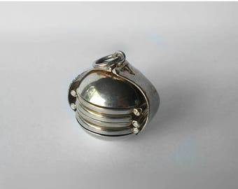 CIJ SALE Vintage Sterling Photo Ball Locket Pendant Sphere Globe Multi Four Picture Accordion Fold Out MargsMostlyVintage