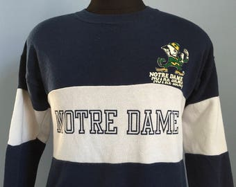 80s Vintage Notre Dame Fightin Irish University ND fighting ncaa college Sweatshirt - MEDIUM
