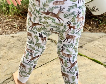 Baby Leggings | Grow With Me Pants | Toddler Leggings | Hipster Baby Pants | Toddler Harem Pants | Christmas Baby Reindeer Pants