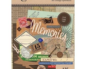 TRAVEL EPHEMERA PACK, Travel Theme Ephemera, Art C Collage Kit, Collage Kit, Mixed Media Kit, Vintage Travel Ephemera, Travel Collage
