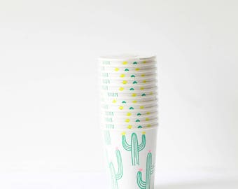 Cactus Paper Party Cups- Meri Meri - Party Decor - Wedding - Baby Shower- Tableware - Spring - Summer - Desert- Trends - Themes