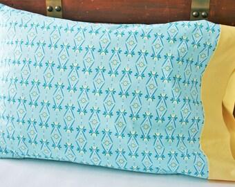 Organic Standard Pillowcase Handmade, Organic Pillowcase Girl, Pillow Cases, Wallflowers, Floral Pillowcase, Organic Cotton, Ready to Ship