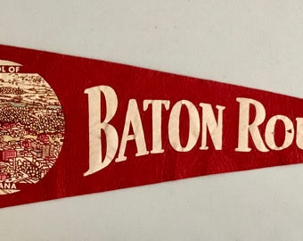 Vintage 'Baton Rouge, Capitol Of Louisiana' Pennant