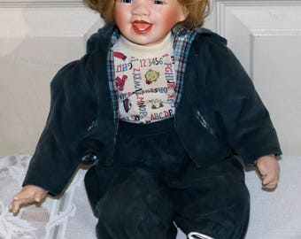 Bart by William Tung - Hugs and Kisses Doll - Porcelain Doll - Designer Series - Porcelain Sculpture - No Box or COA - 609/1000