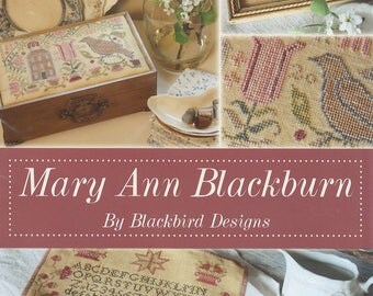 KIT - Mary Ann Blackburn by Blackbird Designs - Loose Feathers Spring 2012 - OOP Kitted Cross Stitch Pattern