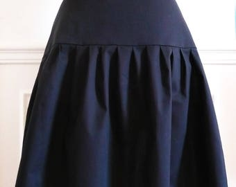 anna, lightweight black cotton skirt
