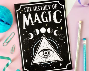 History of Magic Notebook. Magic Notebook. Moon Phases. Witch's Notebook. Spellbook. La Luna Notebook. Witchcraft. Witch Vibes. Evil Eye