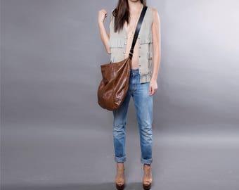 Brown leather bag - soft leather purse SALE  leather hobo bag - leather tote leather shoulder bag crossbody leather handbag