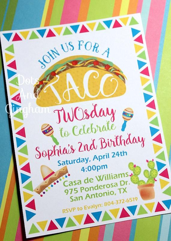 Taco twosday birthday invitation taco invitation taco twosday il570xn stopboris Image collections