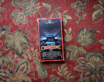 Christine VHS Tape. 80s John Carpenter Horror Movie Classic VHS 1980s Release. Supernatural Thriller Movie Based On Stephen King Book.