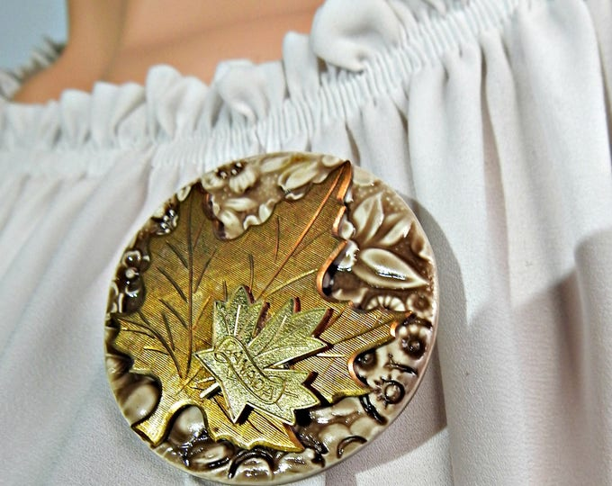 Oh Canada Maple Leaf brooch