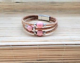 Portuguese jewelry, Portuguese Cork Bracelet, Ceramic Beads, Portuguese Bracelet, Portuguese cork, Ecofriendly, Cork