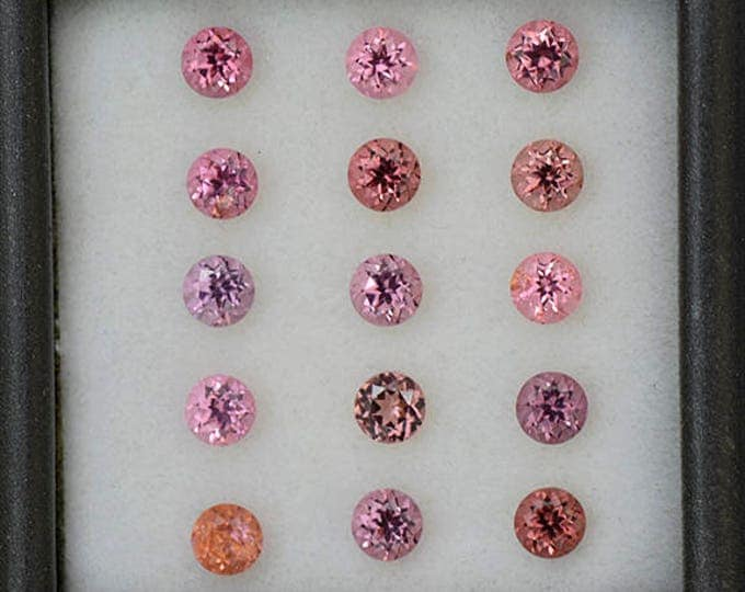 Beautiful Pink Spinel Gemstone Set 3.5 mm Rounds 3.20 tcw.