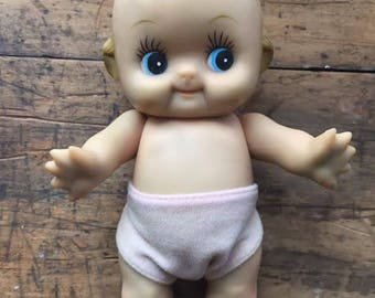 Vintage Kewpie doll with cloth removable diaper, hand painted, moveable arms, legs, head