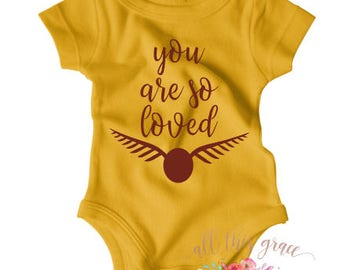 Harry Potter Baby Clothes - You Are So Loved - Harry Potter -Hipster Baby Clothes - Nerdy Baby Onsie - Harry Potter Baby - Cute Newborn