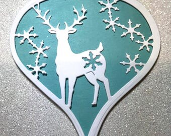 Die Cut Deer Ornament Set of 8