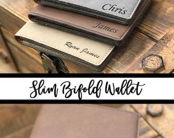 Personalized Slim Wallet, Groomsmen Gifts, Groomsman Gift, Monogram Wallet, Gift for Men, Custom Wallet, Gift for Groomsmen, Ushers, Dad