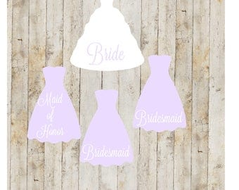 Bridal Party Gifts, Bridal party decal set, Bridal Party Gifts, Bridal Sets, Wedding Accessories, Wedding Decals, Wedding Sets, Wedding, A3