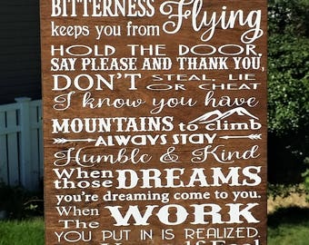 Always stay humble and kind, wood sign, home decor, Tim McGraw song, Lyrics, humble and kind wood sign, Rustic