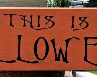 Nightmare Before Christmas Sign, This is Halloween, Wood Sign,  Jack Skellington, Halloween Sign, Halloween Decor